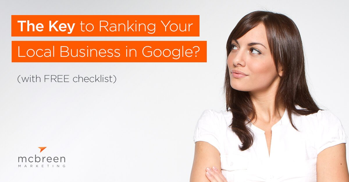 Girl looking at title: what is the Key to Ranking Your Local Business in Google