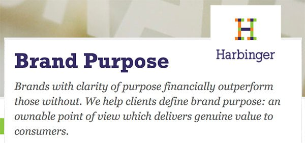 Harbinger – brand purpose