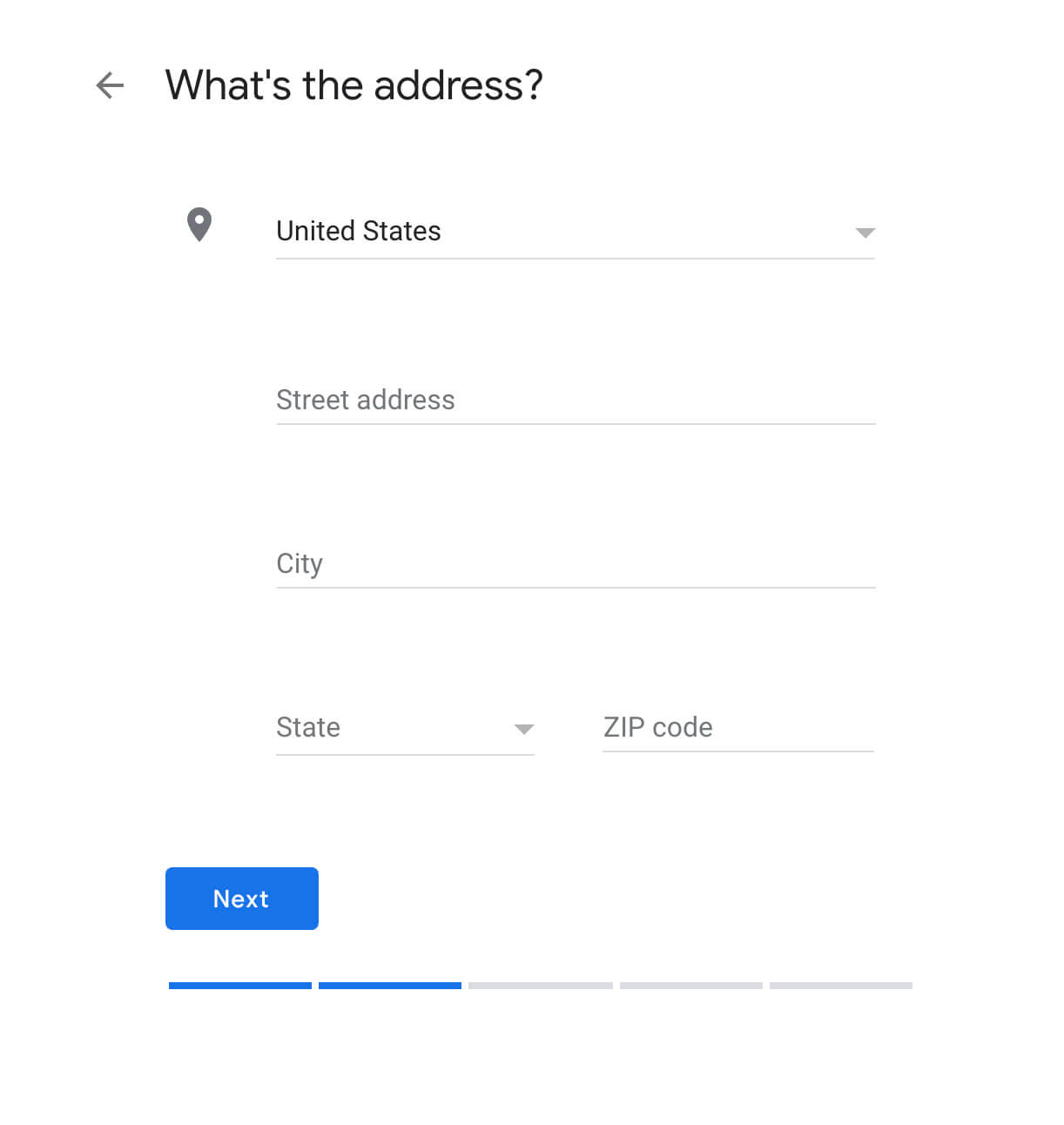 Screen shot – add your address to Google My Business – McBreen Marketing
