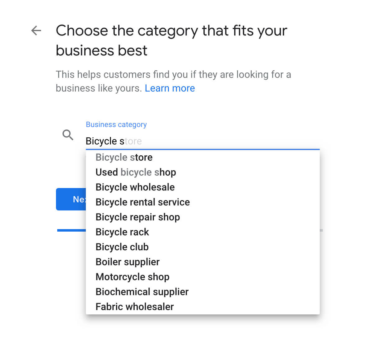 Screenshot on how to add your business category in Google My Business – McBreen Marketing