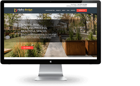 Ripley Design Inc website – McBreen Marketing Fort Collins, CO
