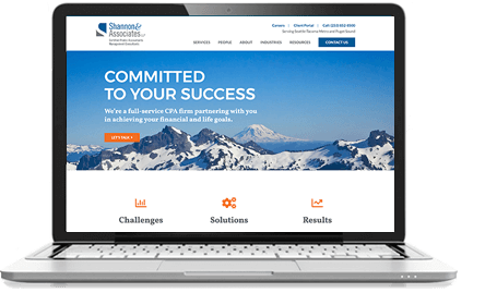 Shannon & Associates website design – McBreen Marketing