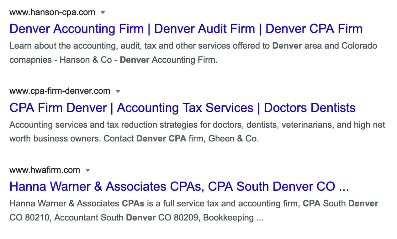 Denver CPAs sample