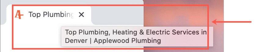 Denver plumber meta title